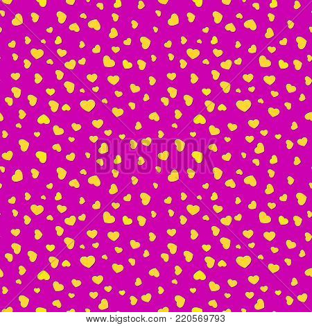 Bright pink fading hearts festive background illustration poster