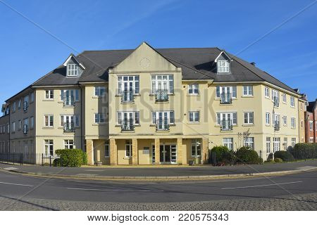 Block containing assisted retirement housing in Cambourne, Cambridgeshire