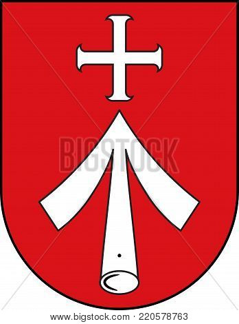 Coat of arms of Stralsund is a Hanseatic town in Mecklenburg-Vorpommern, Germany. Vector illustration