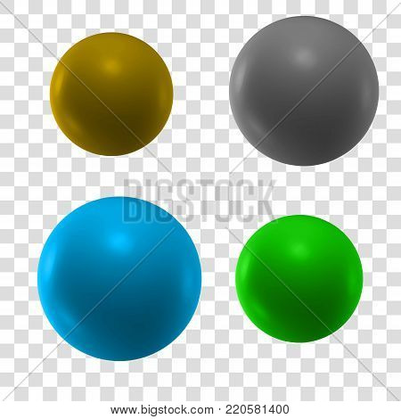 3d sphere. Vector illustration. Transparent background. Isolated sphere