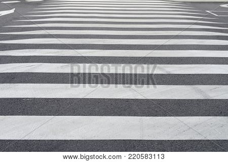 image of road marking pedestrian crossing close-up
