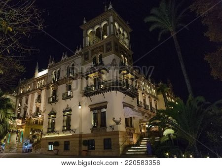 night view of VIP hotel from outside