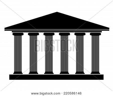 Silhouette Ancient Building Greek Vector Photo Bigstock