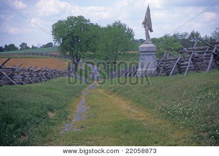 Rail Fences Along The Sunken Road