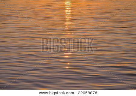 Sunlight over water