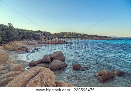 Capriccioli beach in Costa Smeralda, Sardinia, Italy.