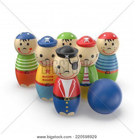 Children's Plastic Skittles