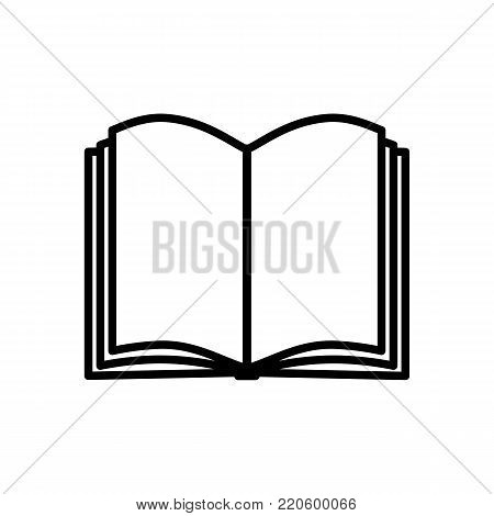 Book icon isolated on white background, Book symbol in flat style. Open magazine icon. Dictionary sign. Vector illustration.