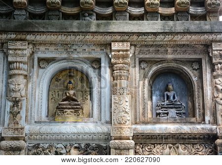 Mahabodhi Temple In Bodhgaya, India