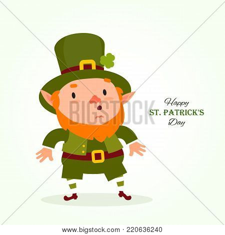 St.Patrick 's Day. Leprechaun , Traditional national character of Irish folklore. Element of the set of leprechauns 06. Festive collection. Isolated on white background.