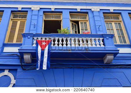 Old Santiago de Cuba downtown architectural detail, Cuba