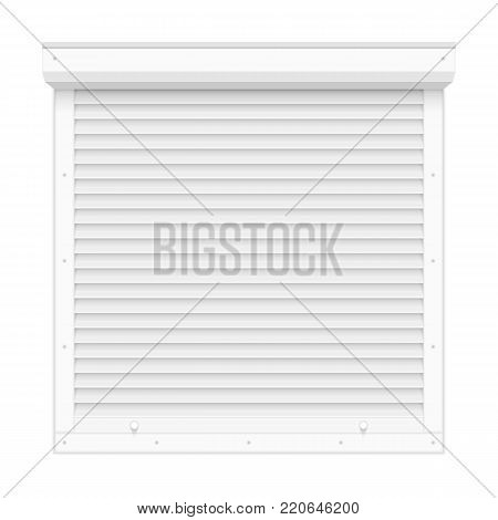 Window roller shutters in realistic style, isolated on white background. Vector illustration. EPS 10.