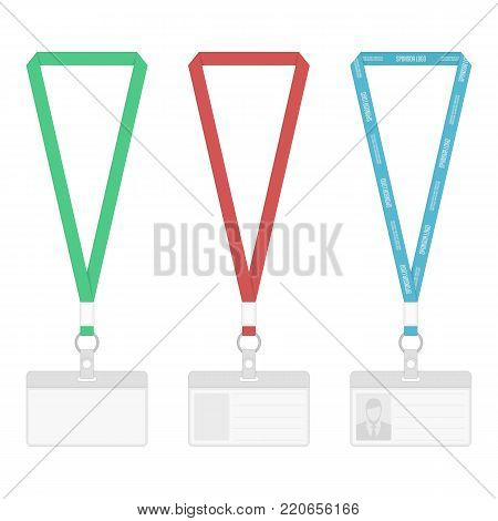 Set Lanyard Template Vector Photo Free Trial Bigstock - Free lanyard template