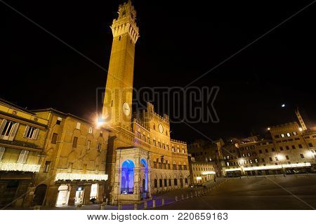 Siena Night View, Tuscany, Italy