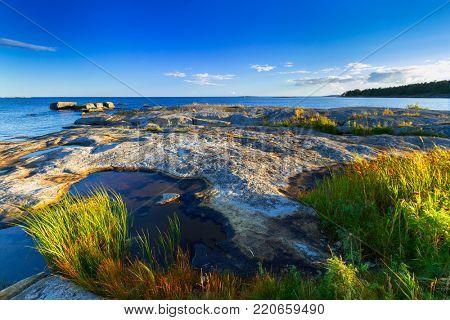 Beautiful coastline of Baltic sea, Sweden