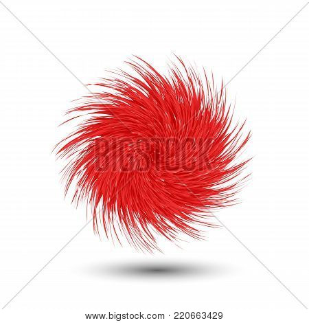 Fluffy ball rolling. Cartoon plant tumbleweeds. Vector
