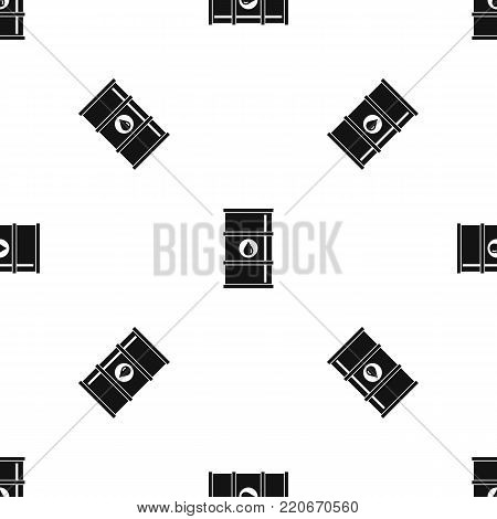 Oil barrel pattern repeat seamless in black color for any design. Vector geometric illustration