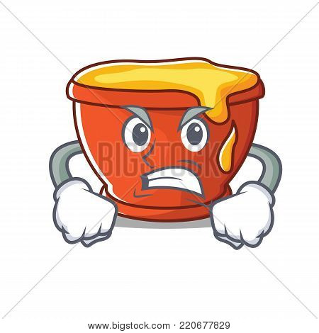 Angry honey character cartoon style vector illustration