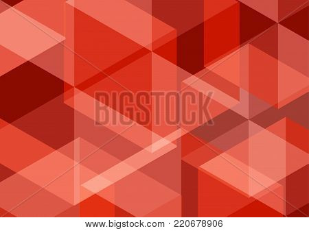Red vector polygonal abstract background. Vector illustration wallpaper background design.