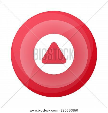 Creative web pictogram with up arrow sign. Interface navigation element for web design or mobile application isolated on white background vector illustration.