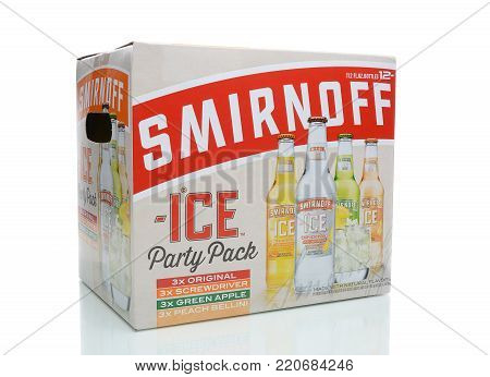 IRVINE, CA - JANUARY 4, 2018: Smirnoff Ice Party Pack. The Original Premium Flavored Malt Beverage with a delightfully crisp, citrus taste.