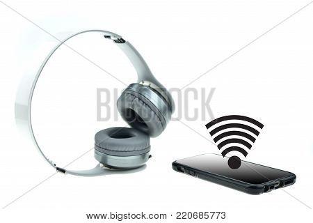 Wireless Headphones With Moblie Phone