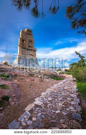 Philopappos Monument is ancient Greek mausoleum and monument dedicated to Gaius Julius Antiochus Epiphanes Philopappos or Philopappus, located on Mouseion Hill in Athens, Greece.