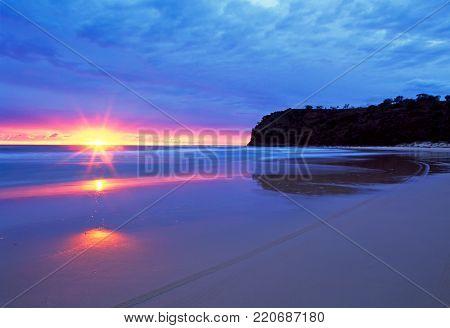 Sunrise at Indian Head on Fraser Island