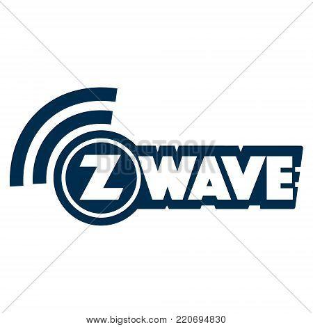 Z-Wave wireless communication design logo on white background. Vector illustration IoT home automation design.