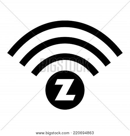 Wireless communication design logo on white background. Vector illustration IoT home automation design.