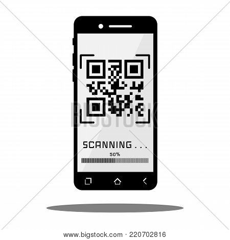 Scan QR code with black Mobile phone.