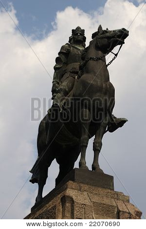 King Wladyslaw Jagiello monument in Cracow, Poland