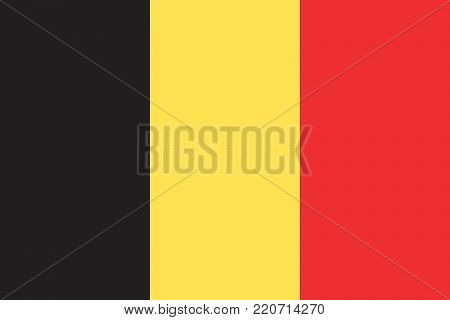 Flag of Belgium oficial colors and proportions