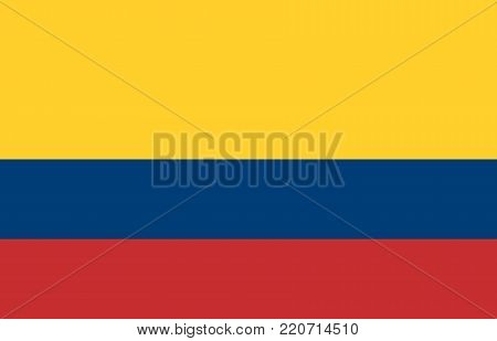 Flag of Colombia oficial flag and colors