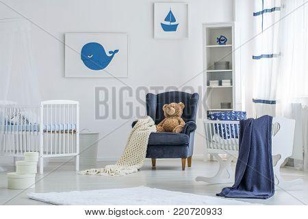 Marine Posters In Baby's Bedroom