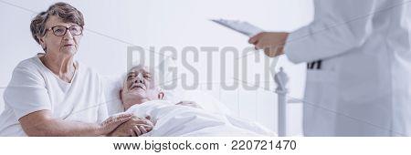 Elderly Man Sick With Cancer