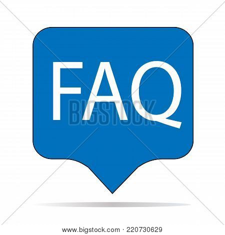 faq icon on white background. faq sign. flat style. frequently asked questions symbol.