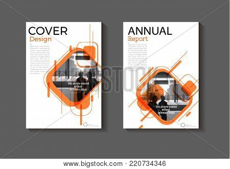 Orange layout abstract background modern cover design modern book cover Brochure cover  template,annual report, magazine and flyer Vector a4