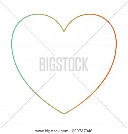 heart icon in degraded green to red color silhouette vector illustration