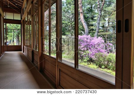 Nikko, Japan - May 6, 2012: Tamozawa Imperial Villa Gardens In Nikko, Japan. The Historic Villa Has