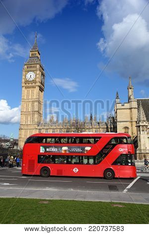 London, Uk - April 23, 2016: People Visit Big Ben In London, Uk. London Is The Most Populous City An