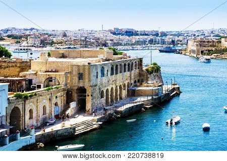 VALLETTA, MALTA - June 28, 2017: antique city building in Valletta,Malta Europe
