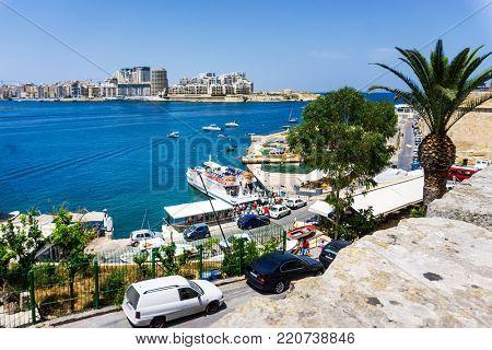VALLETTA, MALTA - June 28, 2017: antique city building in Valletta,Malta Europe