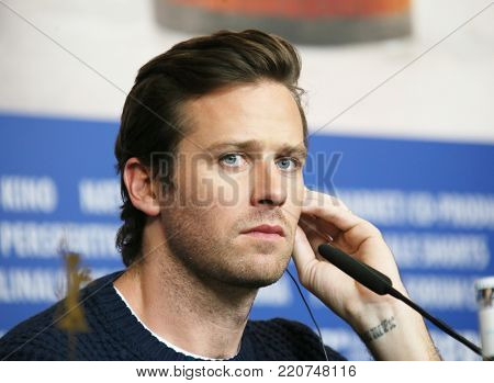 Armie Hammer attends the 'Final Portrait' press conference during the 67th Berlinale Film Festival Berlin at Grand Hyatt Hotel on February 11, 2017 in Berlin, Germany.