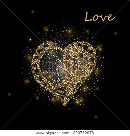 Heart. Heart. Gold Heart. Love. Romantic heart. Gold heart Frame Vector. Calligraphy heart background. Heart frame. Heart Gold. Heart brash. Art, Print, Web Fashion design Heart icon Heart Vintage