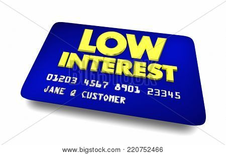 Low Interest Credit Card Best Choice Cheapest Option 3d Illustration