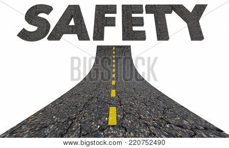 Safety Road Word Travel Transportation Avoid Danger 3d Illustration