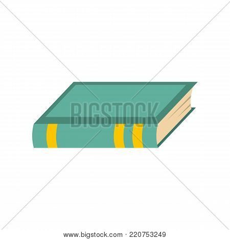 Book biology icon. Flat illustration of book biology vector icon isolated on white background