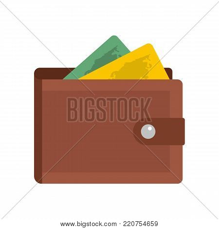 Purse icon. Flat illustration of purse vector icon isolated on white background