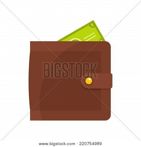 Purse pay icon. Flat illustration of purse pay vector icon isolated on white background